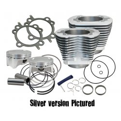 "S&S 107 cui big bore kit, wrinkle black ""Cylinder, Kit, 3.937"" Bore, CP Pistons®,"""