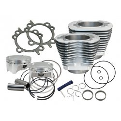 "S&S 107 cui big bore kit, silver ""Cylinder, Kit, 3.937"" Bore, CP Pistons®,"""