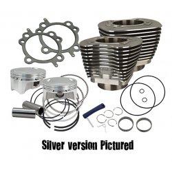 S&S 98 cui big bore kit, silver powder coat