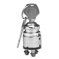 "Ignition Switch, Chrome 0.75"" diameter/on-ign-light"