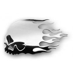 Flame Skull Horn Cover