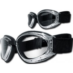 Lunettes moto Helly Hurricane 2 , chrome verres clairs