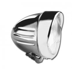 4 1/2 Inch Headlight with Ribbs + Visor