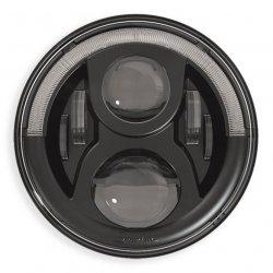 """Optique Speaker 7"""" LED technologie Adaptive, avec feu de position,UK Version, Noir"""