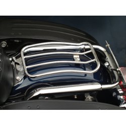 "Porte bagage Motherwell 7"" Solo, pour Dyna Glide 06-17 /Road King 97-13(sauf Dyna Wide Glide & FXDB), Chrome"