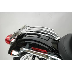 "Porte bagage Motherwell 6"" Solo, pour Dyna Glide 06-17 /Road King 97-13(sauf Dyna Wide Glide & FXDB), Noir"