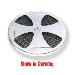 Maltese Cross Air Cleaner Cover Black