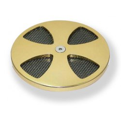 Bronze Smooth Cross Air Cleaner Cover