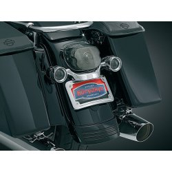 Chrome Curved License Plate Mount