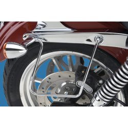 Supports de sacoches chromé par khrome Werks pour Dyna Wide glide