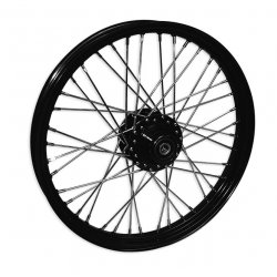 "40 Spoke Wheel, 21 x 2.15 Narrow Glide Hub, Single / Dual Disc, Black, 3/4"" Axle"