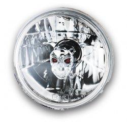 "Optique de phare 5-3/4"" By Adjure, Ice ,avec parabole ""Diamond Cut"" Skull Style"