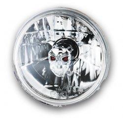 "Optique de phare 7"" By Adjure, Ice, Skull Style avec parabole ""Diamond Cut"""
