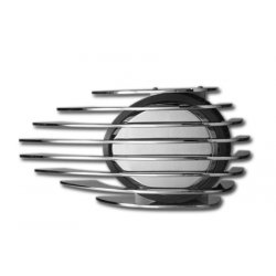 Finned Air Cleaner Cover, Chrome