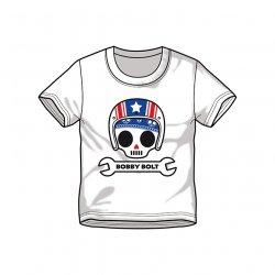 Bobby Bolt USA Helmet T-Shirt for Kids, white
