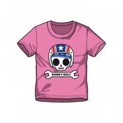 Bobby Bolt USA Helmet T-Shirt for Kids, pink