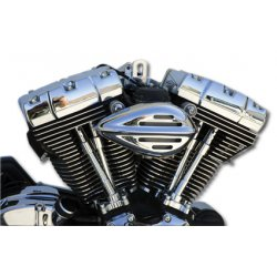 Slotted Ribbed Air Cleaner Cover, S&S Carbs