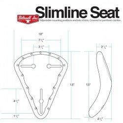 Slimline Seat, Raw Foam with Pan