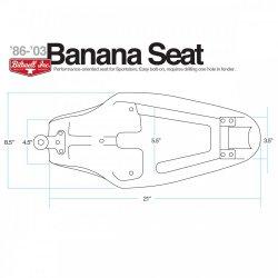Fond de selle et mousse Banana pour Sportster 86 à 03