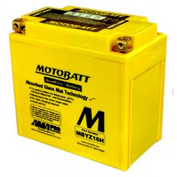 Motobatt Battery MBYZ16H YTX14HBS,YTX14BS,YTX14LBS, GYZ16H