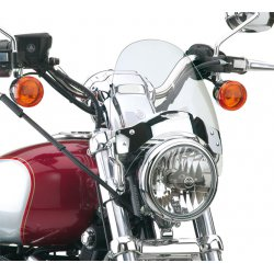 "Flyscreen , Chrome Bracket, Light Tint, Forks With Up To 43mm Diameter, Height: 08.50"" (21.6cm) Width: 9.25"" (22.5cm)"