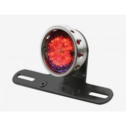 Alu Drilld Taillight with Bracket