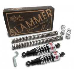 Burly Slammer Kit with chrome rear shocks