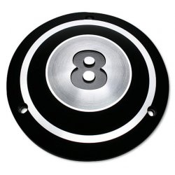 Black Derby Cover 8-Ball 3-Hole