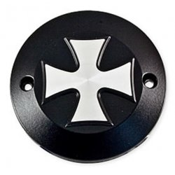 "Point Cover ""Iron Cross"" 2-trous, noir mat, pour HD 70-03"