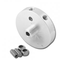 Alu backing plate for remote oilfilter