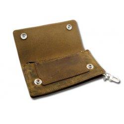 Vintage Brown Biker Wallet