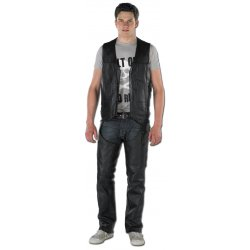 Gilet cuir 10 poches homme