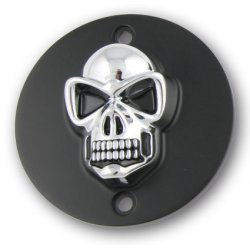 Point Cover Black/Chrome Skull Vertical Mount Holes