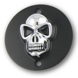 Point Cover Black/Gold Skull Horiz Mount Hole