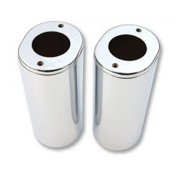 Fork Slider Covers +2 Inch Chrome