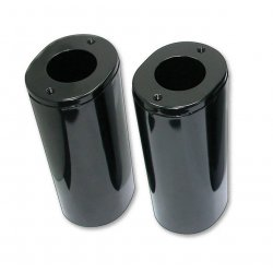 Fork Slider Covers Stock Length Gloss Black