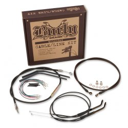Kit installation BURLY noir, CLUBMAN BAR (NON ABS), pour Sportster