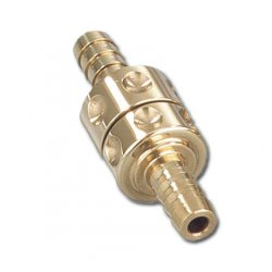 Kustom Tech Inline Petcock - polish brass