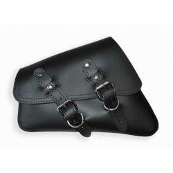 Sacoche latérale Solo Wide Strap pour Sportster 04 à 17 cuir noir