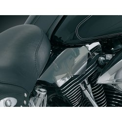Saddle Shield Heat Deflector, smoked