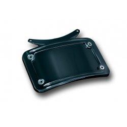 Gloss Black Curved License Plate Frame
