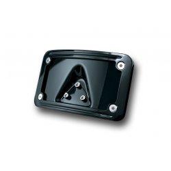 Gloss Black Laydown Curved License Plate Frame