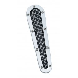 Fuel Door Insert, Mesh, Chrome