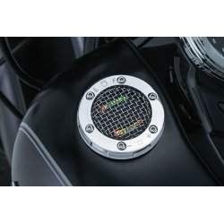 L.E.D. Fuel And Battery Gauge, Mesh, Chrome