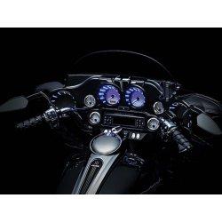 Gloss Black L.E.D Speaker Bezels for Touring & Trike