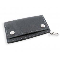 Portefeuille Cuir Noir avec passepoil