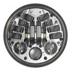"JW Speaker 8690M, LED Standard 5 3/4"", Chrome"