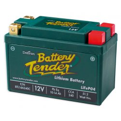Battery Tender, Battery, Lithium, 10-14Ah, 12V, LCA : 240A , LxWxH : 134x65x92 mm