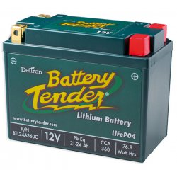 Battery Tender, Battery, Lithium, 21-24Ah, 12V, LCA : 360A , LxWxH : 165x86x130 mm