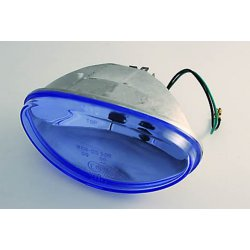 H4 Lens Blue For Oval Headlight, 12V 60/55W With Position Light